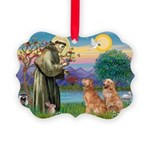 StFrancis-2Goldens Picture Ornament