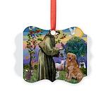 Saint Francis' Golden Picture Ornament