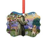 St Francis Golden Picture Ornament