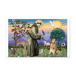 St Francis Golden Rectangle Car Magnet
