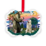 St.Francis #2/ Pyrenees #1 Picture Ornament