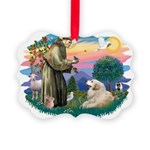 St.Francis #2/ Pyrenees#2 Picture Ornament