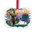 St.Francis #2/ Greyhound Picture Ornament