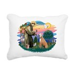 St.Francis #2/ Greyhound Rectangular Canvas Pillow