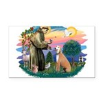 St.Francis #2/ Greyhound Rectangle Car Magnet