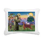 St. Fran./ Irish Setter Rectangular Canvas Pillow