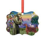 St. Fran./ Irish Setter Picture Ornament