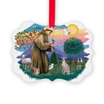 St.Francis #2/ Ital Grey (f) Picture Ornament