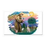 St.Francis #2/ Ital Grey (f) Rectangle Car Magnet