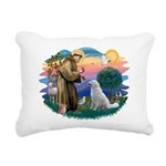 St Francis #2/ Kuvacz Rectangular Canvas Pillow