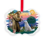 St Francis #2/ Kuvacz Picture Ornament