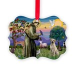 St Francis/Yellow Lab Picture Ornament