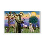 St Francis/Yellow Lab Rectangle Car Magnet