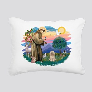 St.Francis #2/ Lhasa Apso (# Rectangular Canvas Pi