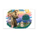 St.Francis #2/ Lhasa Apso (# Rectangle Car Magnet