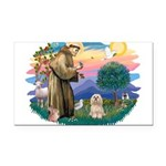 St.Francis #2/ Lhasa Apso (# Rectangle Car Magnet