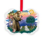 St.Francis #2/ Maltese #7 Picture Ornament