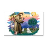 St.Francis #2/ Maltese #7 Rectangle Car Magnet