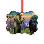 Saint Francis' Newfie Picture Ornament