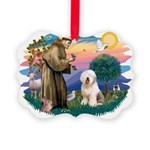 St.Francis #2/ Old English (# Picture Ornament