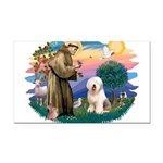 St.Francis #2/ Old English (# Rectangle Car Magnet