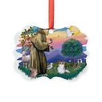St.Francis #2 / Papillon (sw Picture Ornament