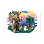St.Francis #2 / Papillon (sw Rectangle Car Magnet