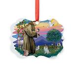St.Francis #2/ Pomeranian (s& Picture Ornament