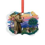 St.Francis #2/ Pomeranian (T Picture Ornament