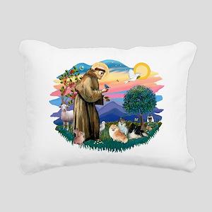 St.Francis #2/ Pomeranian(3) Rectangular Canvas Pi