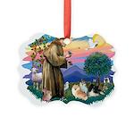 St.Francis #2/ Pomeranian(3) Picture Ornament