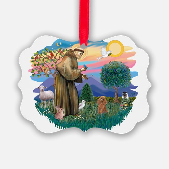 St.Francis #2/ Poodle (Toy A) Ornament