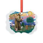 St.Francis #2/ Poodle (Toy A) Picture Ornament