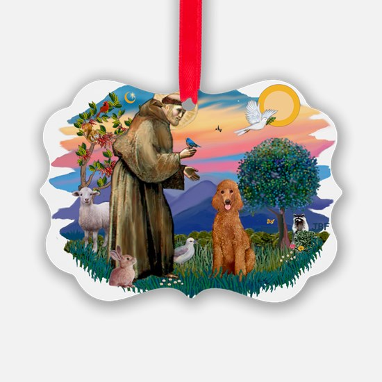 St.Fran #2/ Poodle (Std-ap) Ornament