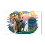 St.Francis #2/ Poodle (Std-Hv Rectangle Car Magnet