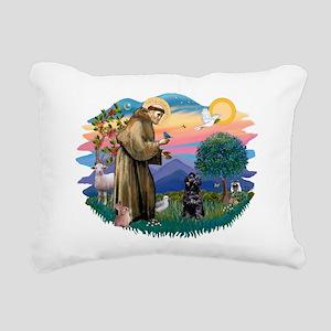 St Francis #2 / PWD (sit) Rectangular Canvas Pillo