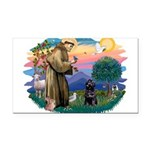 St Francis #2 / PWD (sit) Rectangle Car Magnet
