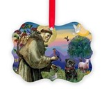 St Francis / Pug Picture Ornament