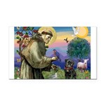St Francis / Pug Rectangle Car Magnet