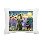 St Francis / Rottweiler Rectangular Canvas Pillow