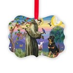 St Francis / Rottweiler Picture Ornament