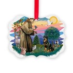 St.Francis #2/ Rottweiler Picture Ornament