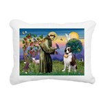 St. Francis/ St. Bernard Rectangular Canvas Pillow