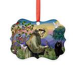 St Francis / Schipperke Picture Ornament