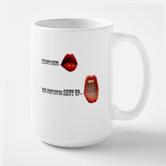 Blah Blah Blah and Blah Large Mug