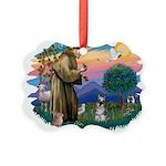 St.Francis #2/ Schnauzer #1 Picture Ornament