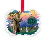 St.Francis #2/ ********* Schn Picture Ornament