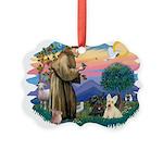 St.Francis #2/ Scottys (2) Picture Ornament