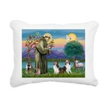 St.Francis (W) - 2 Shelties ( Rectangular Canvas P