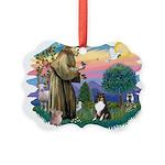St.Francis #2/ Sheltie (tri) Picture Ornament